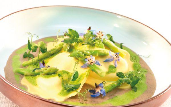 Ravioli van asperges