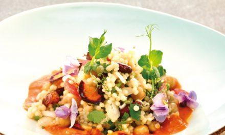 Couscous et légumes croustillants
