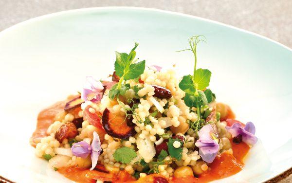 Couscous met knapperige groenten
