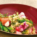 Salade de quinoa et saumon fumé