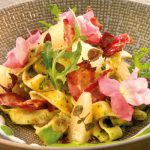 Pappardelle met pomelo