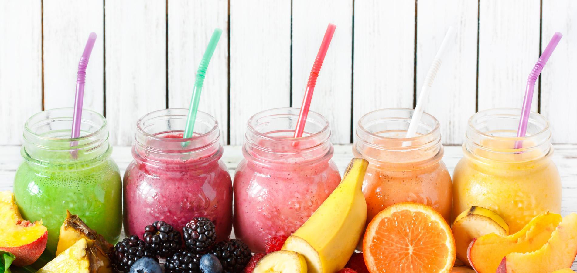 Frisdranken, fruitsappen, smoothies