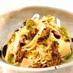 Verse spaghetti met truffelcremade