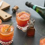 Orange sanguine pétillante, un mocktail toute fraicheur