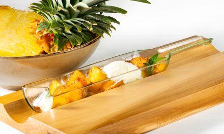 Ananas confit au fenouil et Esprit de Bioul