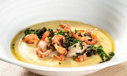 Totjespap aux huîtres et fruits de mer