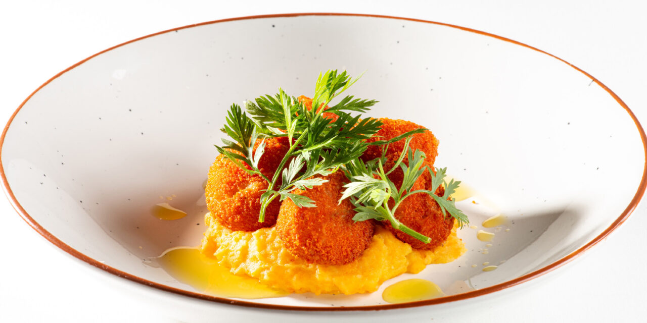 Croquettes artisanales scampi curry rouge